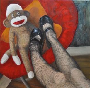Self Portrait with Sock Monkey