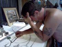 Jeff at work